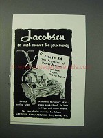 1953 Jacobsen Estate 24 Lawn Mower Ad - So Much