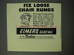 1953 Elmer's Glue-All Ad - Fix Loose Chair Rungs