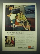 1952 New York Central Railroad Ad, Little Girl Big Date