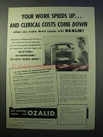 1952 Ozalid Ozamatic Copier Ad - Work Speeds Up