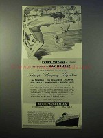 1952 Moore-McCormack Lines Ad - Cruise a Gay Holiday