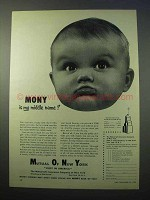 1952 Mutual of New York Ad - MONY is my Middle Name