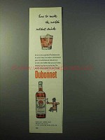 1952 Dubonnet Aperitif Ad - Make World's Mildest Drink