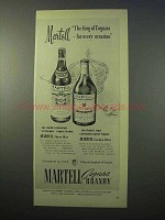 1952 Martell Cognac Ad - The King For Every Occasion