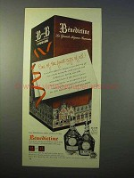 1952 Benedictine B&B Liqueur Ad - Finest Gifts Of Adll