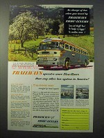 1952 Trailways Bus Ad - More Thru-Buses