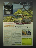 1952 Trailways Bus Ad - More Thru-Buses Than Any Other