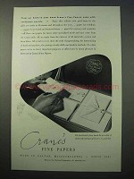 1952 Crane's Fine Papers Ad - Craftsman Quality