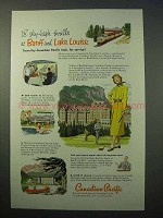 1952 Canadian Pacific Railroad Ad - Banff, Lake Louise