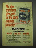 1952 Eveready Prestone Anti-Freeze Ad - Protection