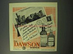 1952 Dawson Scotch Ad - Inverness Castle