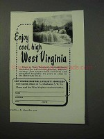 1952 West Virginia Tourism Ad - Enjoy Cool, High