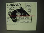 1952 Garrard RC 80 Record Player Ad - World's Finest