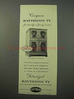1952 Raytheon Essex TV Ad - Clarity in Fringe Areas