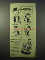 1951 Northern Tissue Ad - Fluffy, the Northern Cub