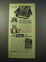 1951 Coleman Model 200 Lantern, 413D Camp Stove Ad