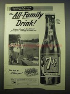 1951 7up Soda Ad - The All-Family Drink