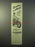 1951 Harley Davidson 125 Motorcycle Ad - All Outdoors