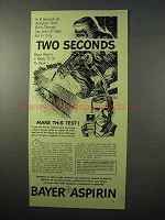 1951 Bayer Aspirin Ad - Two Seconds