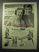 1951 Ipana Tooth Paste Ad - How Sparkling Can You Be