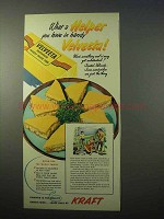 1951 Kraft Velveeta Ad - What a Helper You Have
