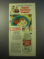 1951 Carnation Evaporated Milk Ad - Creamed Tuna