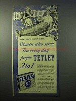 1951 Tetley Tea Ad - Women Who Serve Every Day