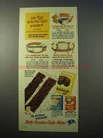 1951 Betty Crocker Cake Mix Ad - Party, Ginger, Devils