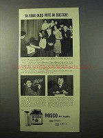 1951 Bosco Drink Ad - 14-Year Olds Vote in Boston