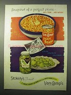 1951 Van Camp's Pork and Beans, Stokely's Pickles Ad