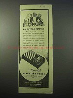 1951 Marcovitch Black & White Cigarettes Ad - Royal