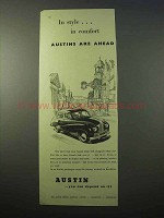 1951 Austin Car Ad - In Style in Comfort Are Ahead