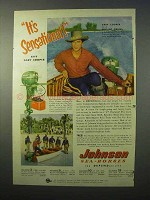 1951 Johnson Sea Horse 25 Outboard Ad - Gary Cooper