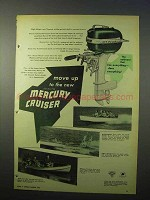 1951 Mercury Cruiser Boat Outboard Motor Ad - Move Up