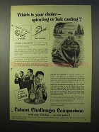 1951 Calvert Whiskey Ad - Spinning or Bait Casting?