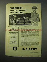 1951 U.S. Army Ad - Engineering School, Ft. Belvoir VA