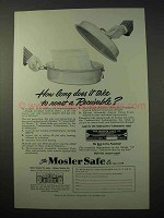 1951 Mosler Safe Ad - How Long to Roast Receivable?