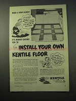 1951 Kentile Floor Ad - Install Your Own