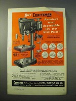 1951 Craftsman 100 Bench Model Drill Press Ad