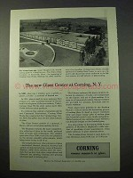1951 Corning Glass Ad - The New Center at Corning, NY