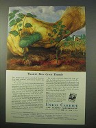 1951 Union Carbide Ad - Wanted: More Green Thumbs