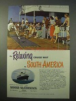 1951 Moore-McCormack Lines Cruise Ad - Relaxing