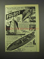 1951 Folbot Folding Boat Ad - Sensation of the Nation