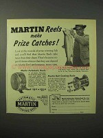 1951 Martin Automatic, Bait Casting Fishing Reel Ad