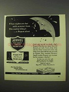 1951 Pequot Sheets Ad - Nights Hot With Summer Heat