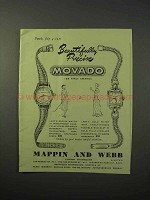 1951 Movado Lady's Sport Watch, Lady's Gold Watch Ad