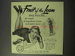 1951 Fruit of the Loom Fine Nylons Ad