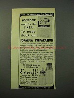 1951 Evenflo Nursers Ad - Nipple, Bottle, Cap