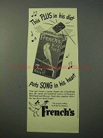 1951 French's Bird Seed Ad - Puts Song in His Heart