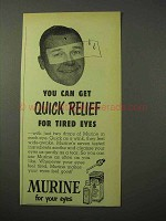 1951 Murine Eye Drops Ad - Quick Rest to Tired Eyes